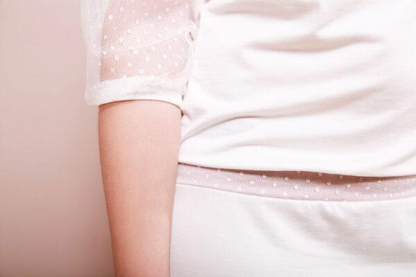 Brautkleid Estelle mit Tüllärmeln cremeweiß