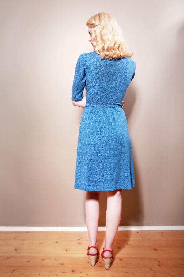 Jerseykleid Julieta in Wickeloptik himmelblau