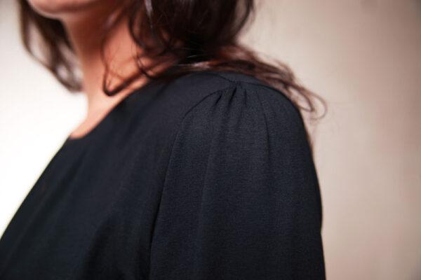 Feminines Jerseykleid Gaia schwarz