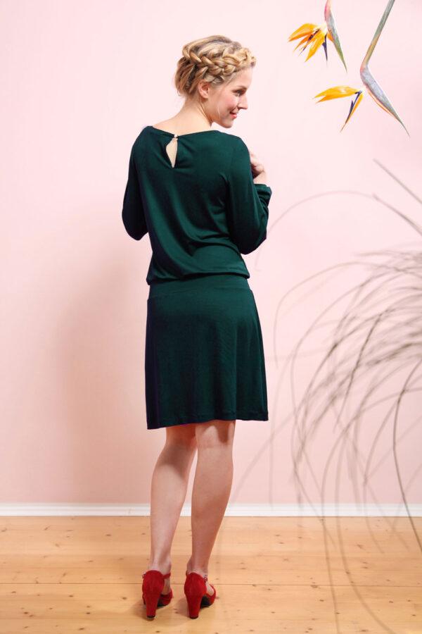 Mirastern Jerseykleid Valeria tannengrün 3