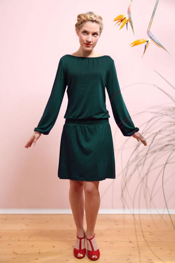 Mirastern Jerseykleid Valeria tannengrün 1