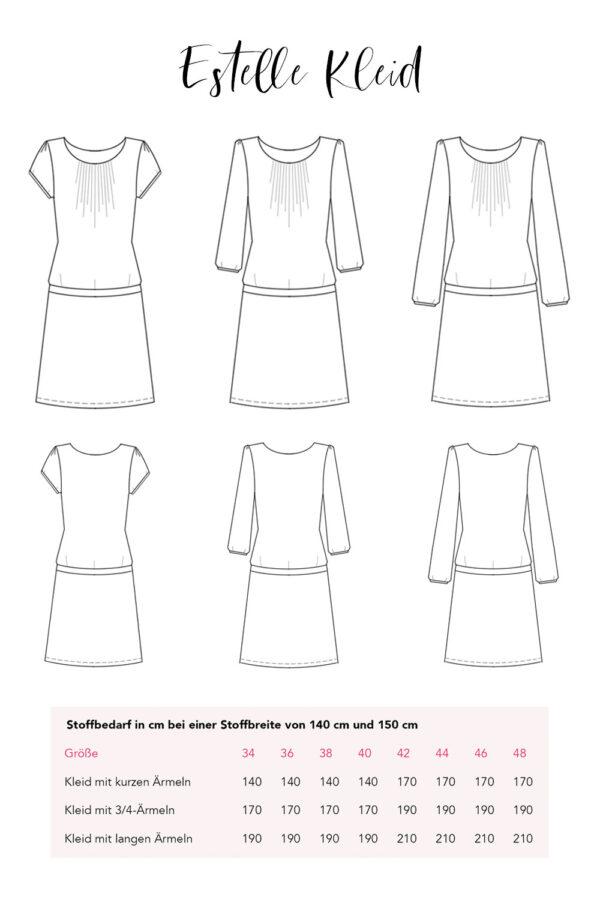 Schnittmuster Kleid & Shirt Estelle