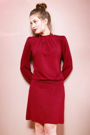 Schnittmuster Kleid & Shirt Anais mit Stehkragen